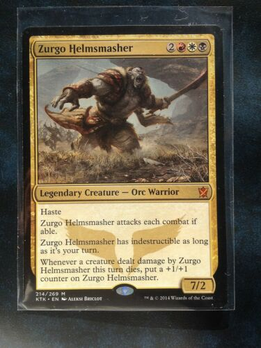 see scan Zurgo Helmsmasher   MTG Magic
