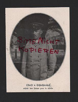 Schlechtendal Wwi Abbildung Oberst V Reasonable 1917