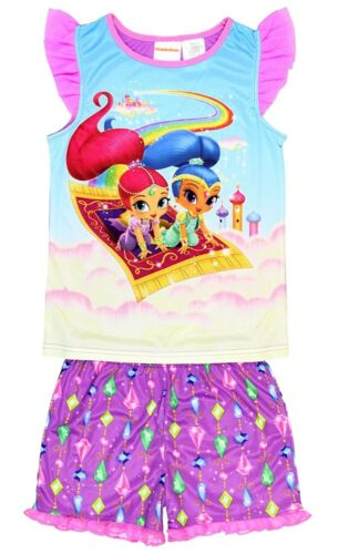 Shimmer and Shine Girls Shorts Pajamas 6-12 Nickelodeon Nick Jr