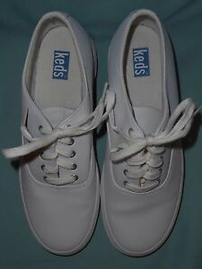 keds womens white leather sneakers