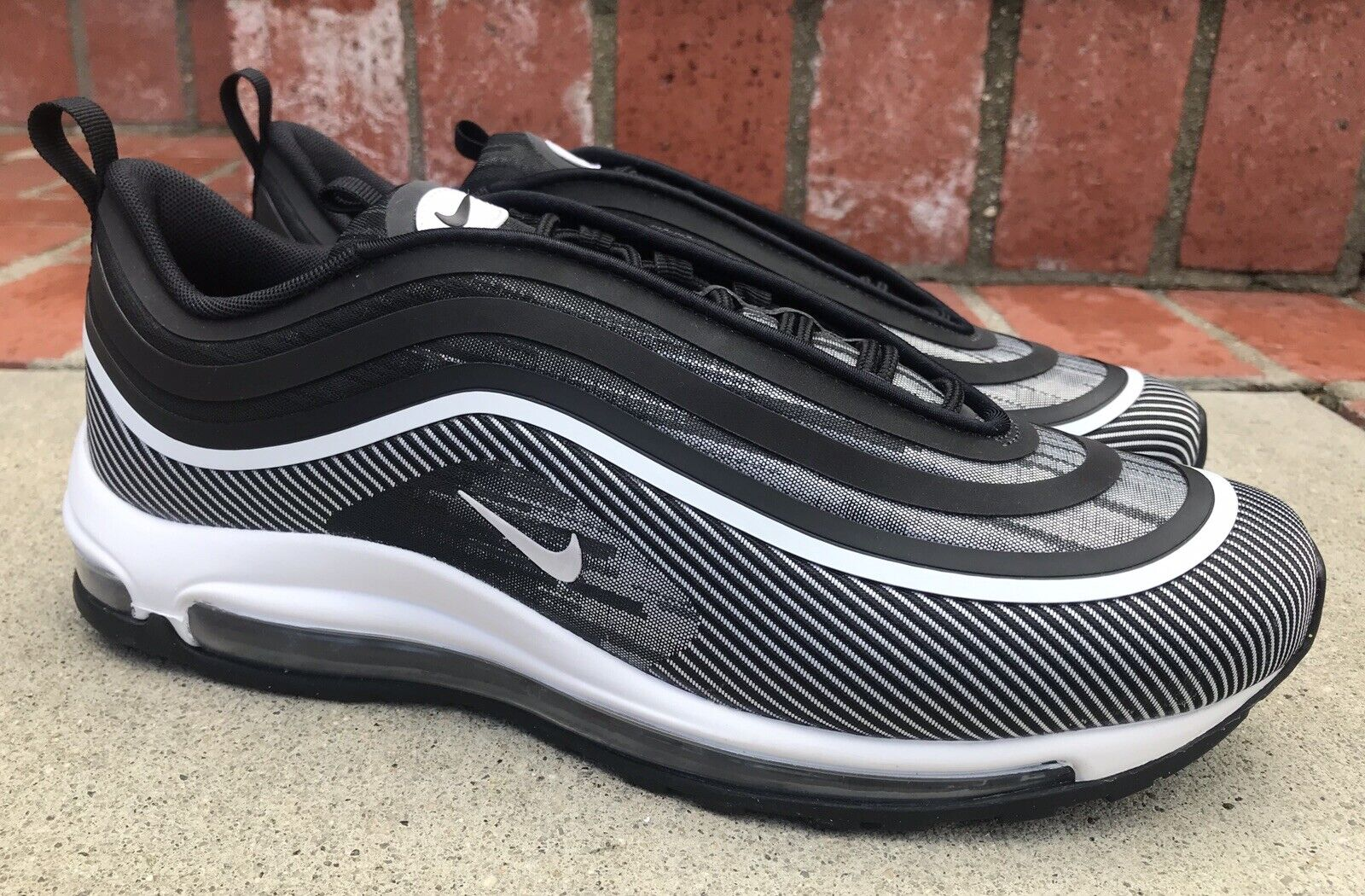 Nike Air Max 97 Ultra UL '17 Size 7 Mens Black White 918356-006 Running Casual
