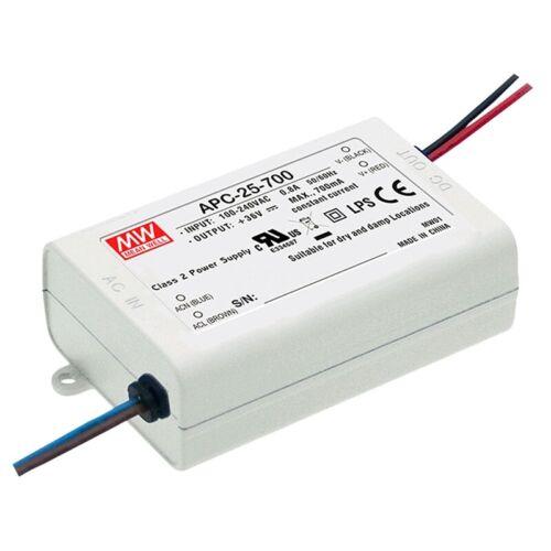 LED-Schaltnetzteil 15-50V 500mA 25,2W IP42 CC APC-25-500 von Meanwell