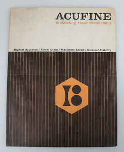 ACUFINE PROCESSING RECOMMENDATIONS, FILM DEVELOPING