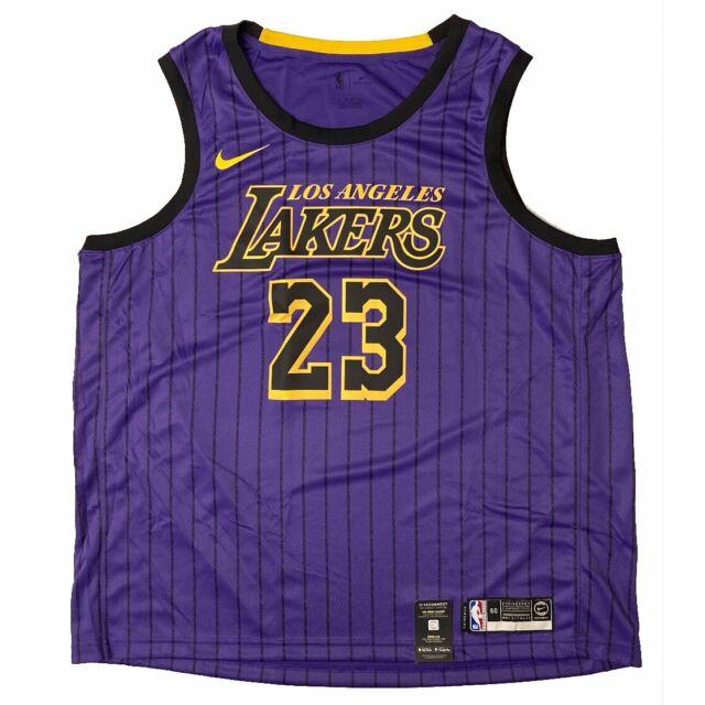 Nike Los Angeles Lakers Lebron James City Edition Swingman Jersey ...