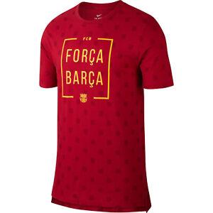 c4f0b6e98f0aa6 Nike FC Barcelona 2018 - 2019 Soccer Forca Barca DriFit Shirt New ...