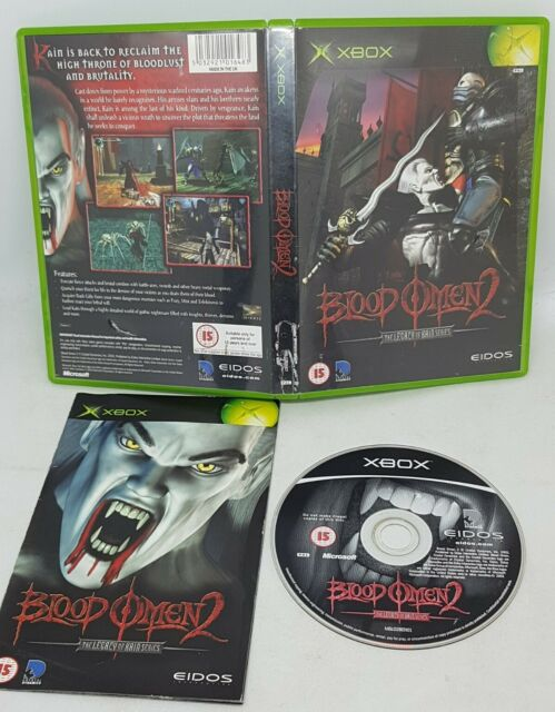 Blood Omen 2 - Original Microsoft XBOX Game - PAL + manual - Legacy of Kain
