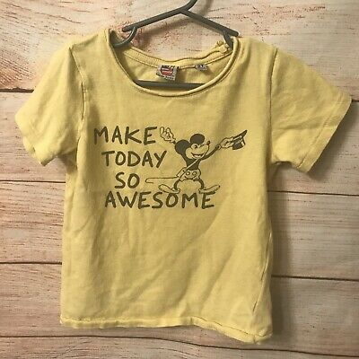 Junk Food Toddler Boys/' Disney Mickey Mouse Short Sleeve T-Shirt Size 3T NWT