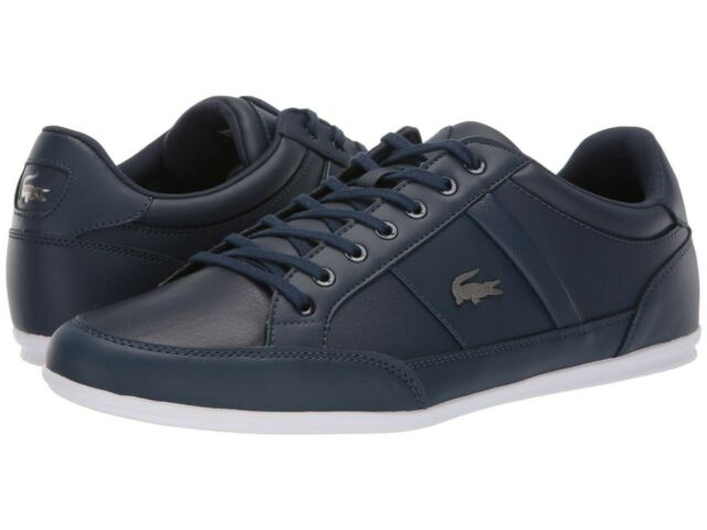 dee992e3 Men's Shoes Lacoste CHAYMON BL 1 Leather Lace Up Sneakers 37CMA0094092 NAVY