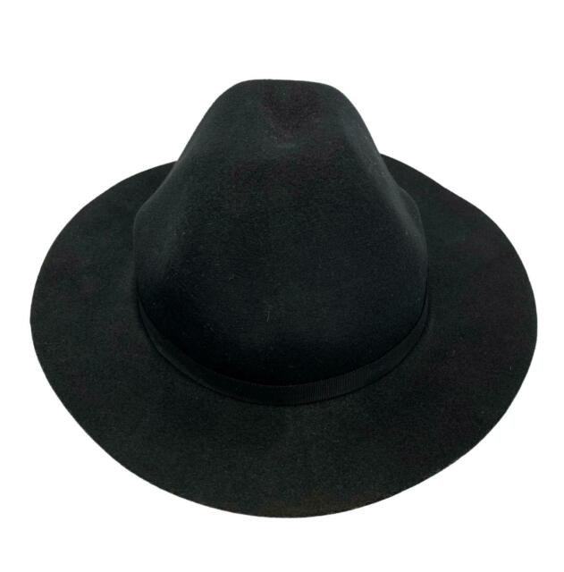 Y'S YOHJI YAMAMOTO BLACK FELT WOOL HAT, S-M, $295