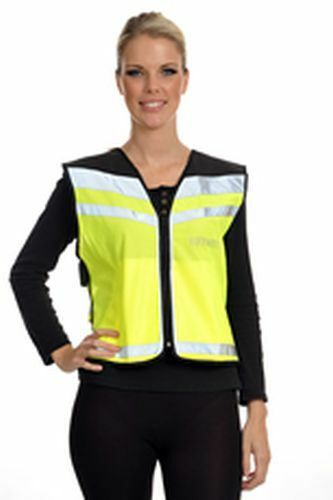 EQUISAFETY AIR WAISTCOAT PLEASE PASS WIDE & SLOWLY - LARGE YELLOW - EQY0640