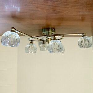 6 light semi flush with glass shades decorative lighting clearance image is loading 6 light semi flush with glass shades decorative aloadofball Choice Image