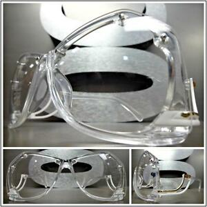 New CLASSIC VINTAGE RETRO Style Clear Lens GLASSES Upside Down Transparent Frame
