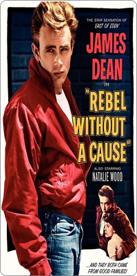 """REBEL WITHOUT A CAUSE NATALIE WOOD  300 11/"""" X 5/"""" JAMES DEAN METAL SIGN"""