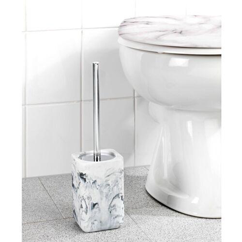 Klobürste Bürstengarnitur WC Bad Bürstenhalter Marmor Optik Toilettenbürste