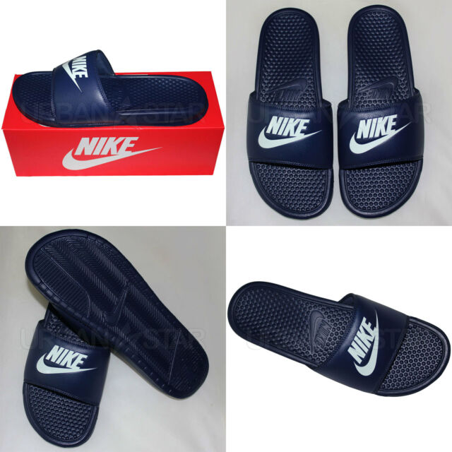 4c5829211 Nike Spencer JDI Men s Beach Shoes Slide Bath Slippers Sandals Shower EUR  45 Dark Blue 343880403