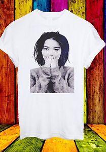 Bjork-Bjork-debutto-Cantante-Pop-Elettronico-Musica-House-Uomini-Donne-Unisex-T-shirt-180