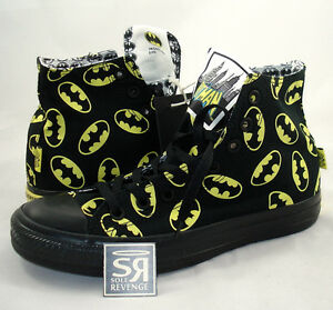 New-Converse-BATMAN-Logo-All-Star-Hi-Chuck-Taylor-DC-Comics-Shoes-High-Canvas