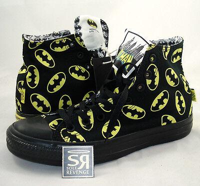 New Converse BATMAN Logo All Star Hi Chuck Taylor DC Comics Shoes High Canvas
