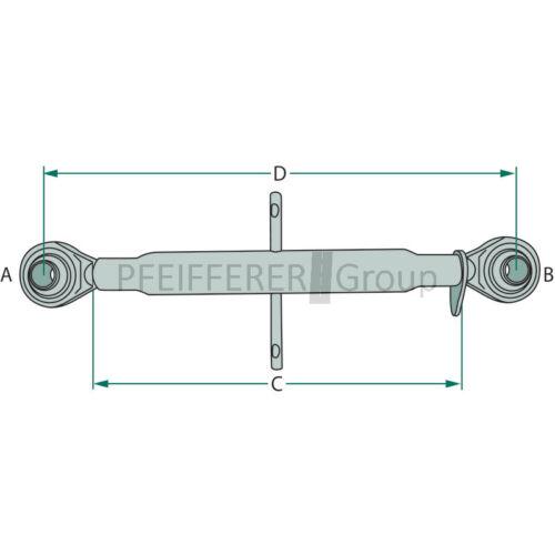 Ober manillar m30x3,5 Kat 2 de longitud trabajo 640-890 mm