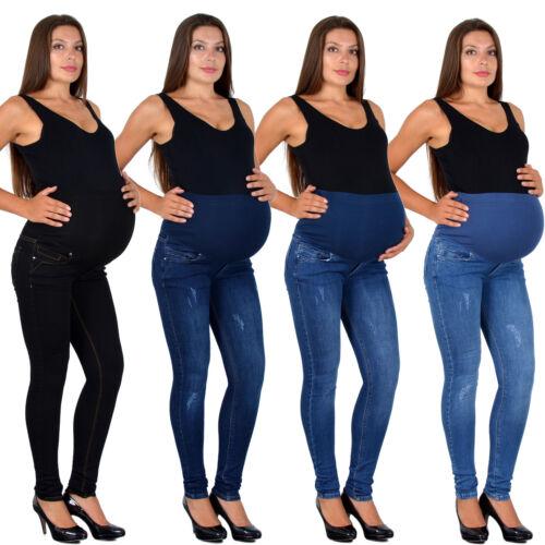 Damen Schwangerschaftshose Umstandshose Schwangerschaft Umstands Jeans Hose J533