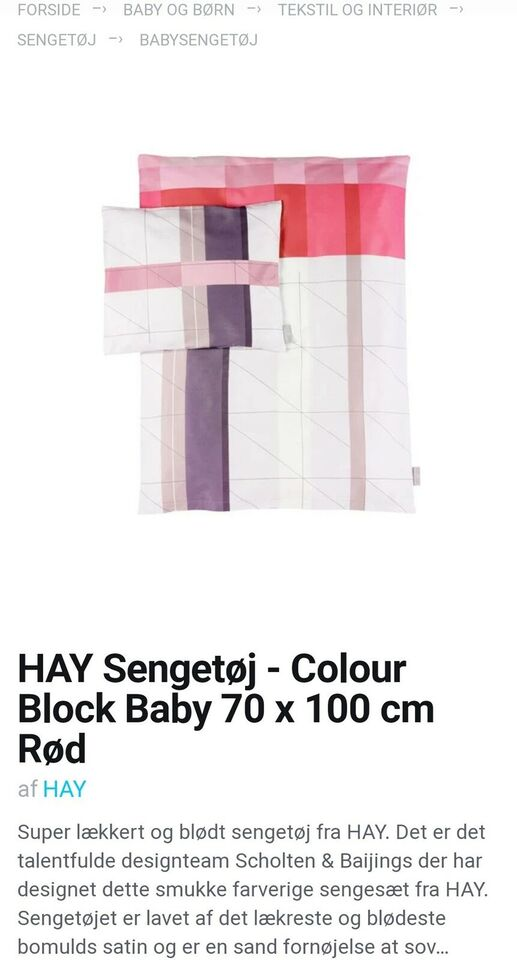 Sengetøj, Sengetøj, Hay