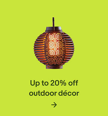 Up to 20% off outdoor décor