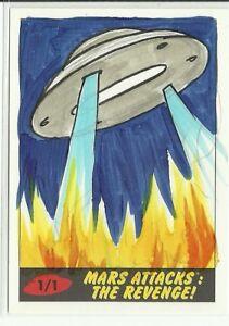 2017-Topps-Mars-Attacks-The-Revenge-Flying-Saucer-Sketch-Card-by-Cathy-Razim