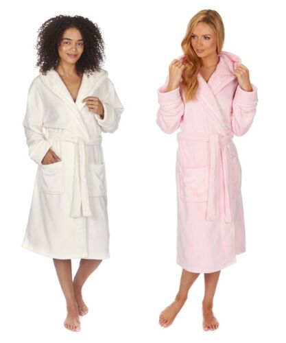 Forever Dreaming Ladies Soft Fleece Hooded Dressing Gown