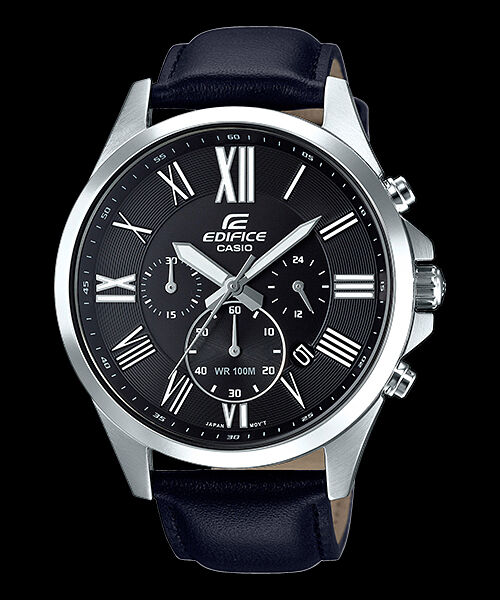 Efv-500l-1a Black Men s Watches Casio Edifice Chronograph 100m World Time  for sale online  c757894b6