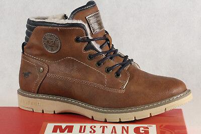 Mustang Stiefel Stiefeletten Stiefelette Schnürstiefel Boots braun 5017 NEU | eBay