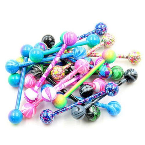 10PCS Stainless Steel Ball Barbell Tongue Rings Nipple Piercing ZPdy Jewelry  ZP