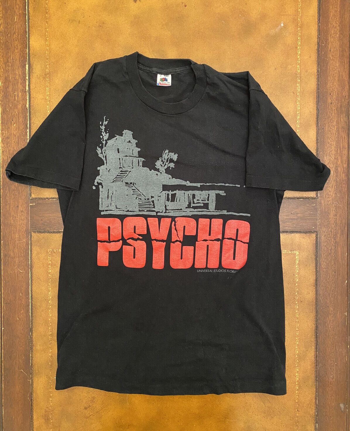 Vtg 80s Psycho Movie Tee Large HORROR black Made in USA