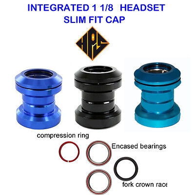 """HPS PRO TOP QUALITY STUNT SCOOTER BLUE STANDARD SEALED BEARING HEADSET 1 1//8/"""""""