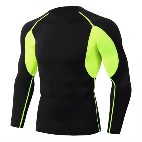 Mens Fitness Compression Shirt Running Sports Gym Yoga Activewear Top Quick-dry