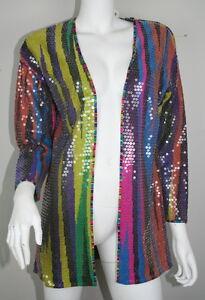 Vintage Missoni Neiman Marcus Bright Striped Sequin Cardigan ...
