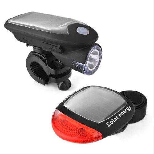 Solar Bicycle Lights Mountain Bike Front Lights USB Charging Light Flashlig U6C4