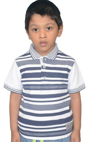 Boys children polo Stripe T-Shirt Collar  Summer Top 2 to 7 Years shirts softy