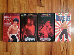 Lot4-Fists-Chinese-Game-Bruce-Lee-VHS-RARE-HTF-OOP-Action-Martial-Arts-Doc