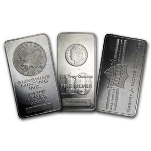 10 oz Silver Secondary Market Bar - eBay2 - SKU#132964