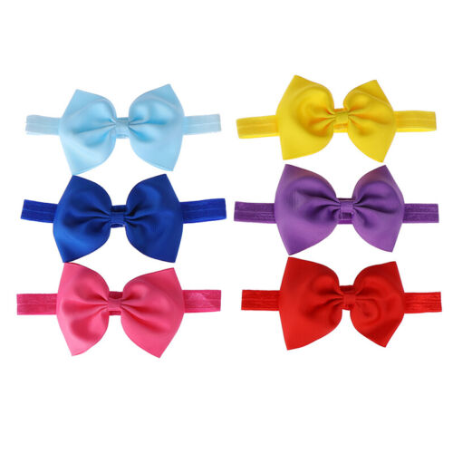 1pc baby girl headband bow ribbon hair bow hair band for newborn infant suODFS