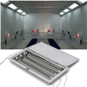 8 Sets 3kw Spray Baking Booth Infrared Paint Curing Lamps