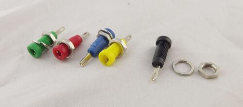 10pcs 2mm Amplifier Terminal Binding Post Banana Panel Mount Test Probe 5 Colors