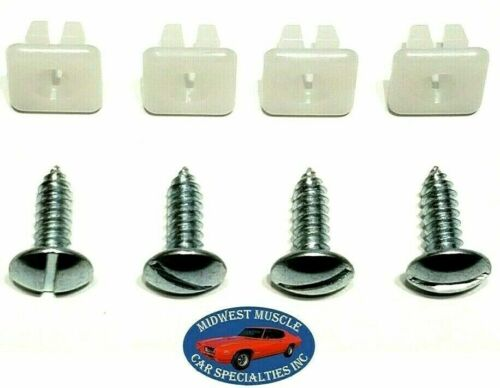 Ford Front Rear Bumper License Plate Holder Frame Bolts /& Nuts Hardware 8pc RK