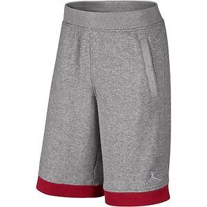 47c43ca1659 La foto se está cargando Nike-Air-Jordan-Pantalones-Cortos-De-Lana-Gris-