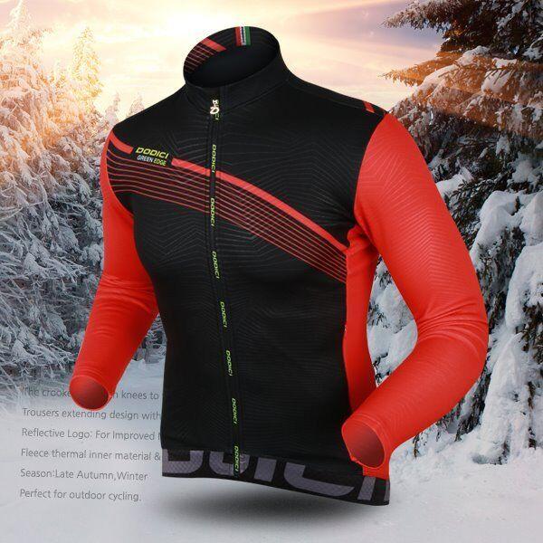 [DODICI] NEW Crespa-WT Cycling Thermal Fleece Jersey Warm Winter Long Sleeve