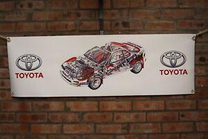 Toyota-Celica-gt4-st185-grosse-PVC-Arbeit-Shop-Banner-Garage-Show-Banner