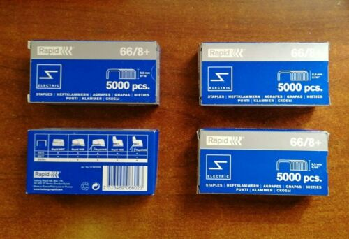 8.5mm staples in boxes of 5000 Rapid Electric 66//8