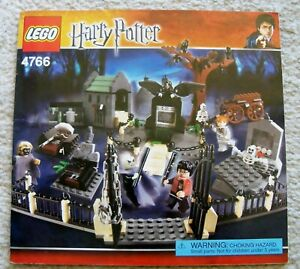 LEGO-Harry-Potter-Rare-4766-Graveyard-Duel-Instruction-Book