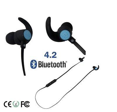 4 Bluetooth Sport Nero Samsung per Universali 2 iPhone Cuffie Auricolari UqtxWT