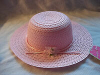 Pink Easter Hat Girl Bonnet Church Flower Dress Up Spring Picture Taking -
